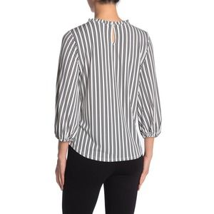 Adrianna Papell Quarter Bubble Sleeve Blouse Med